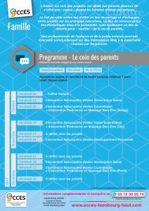 rencontre parents professionnels